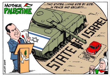 Two States solution, by Latuff