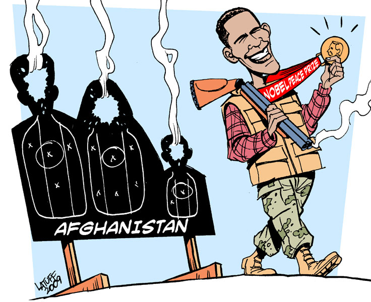Obama: Nobel Peace Laureate by Latuff
