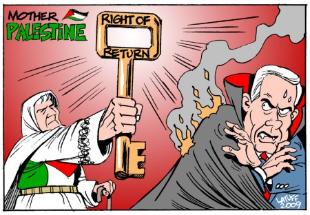 Right of return, by Latuff