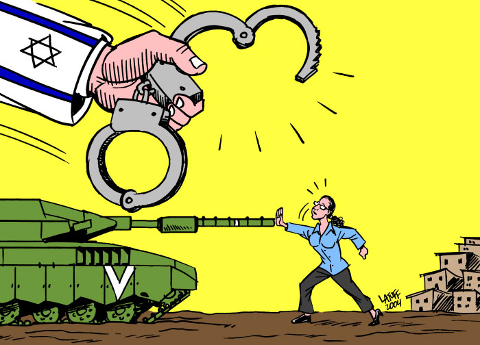 Solidarity with Jewish Activist, by Latuff