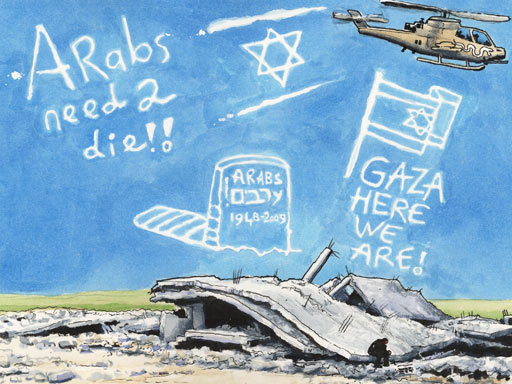 Arabs Must Die! by Steve Bell, The Guardian