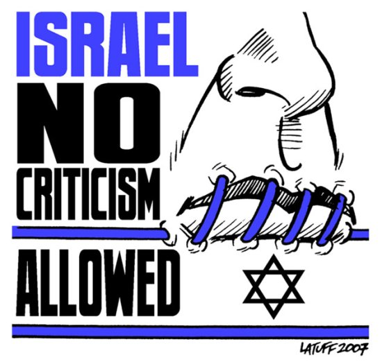 Latuff: No Crticism Allowed!