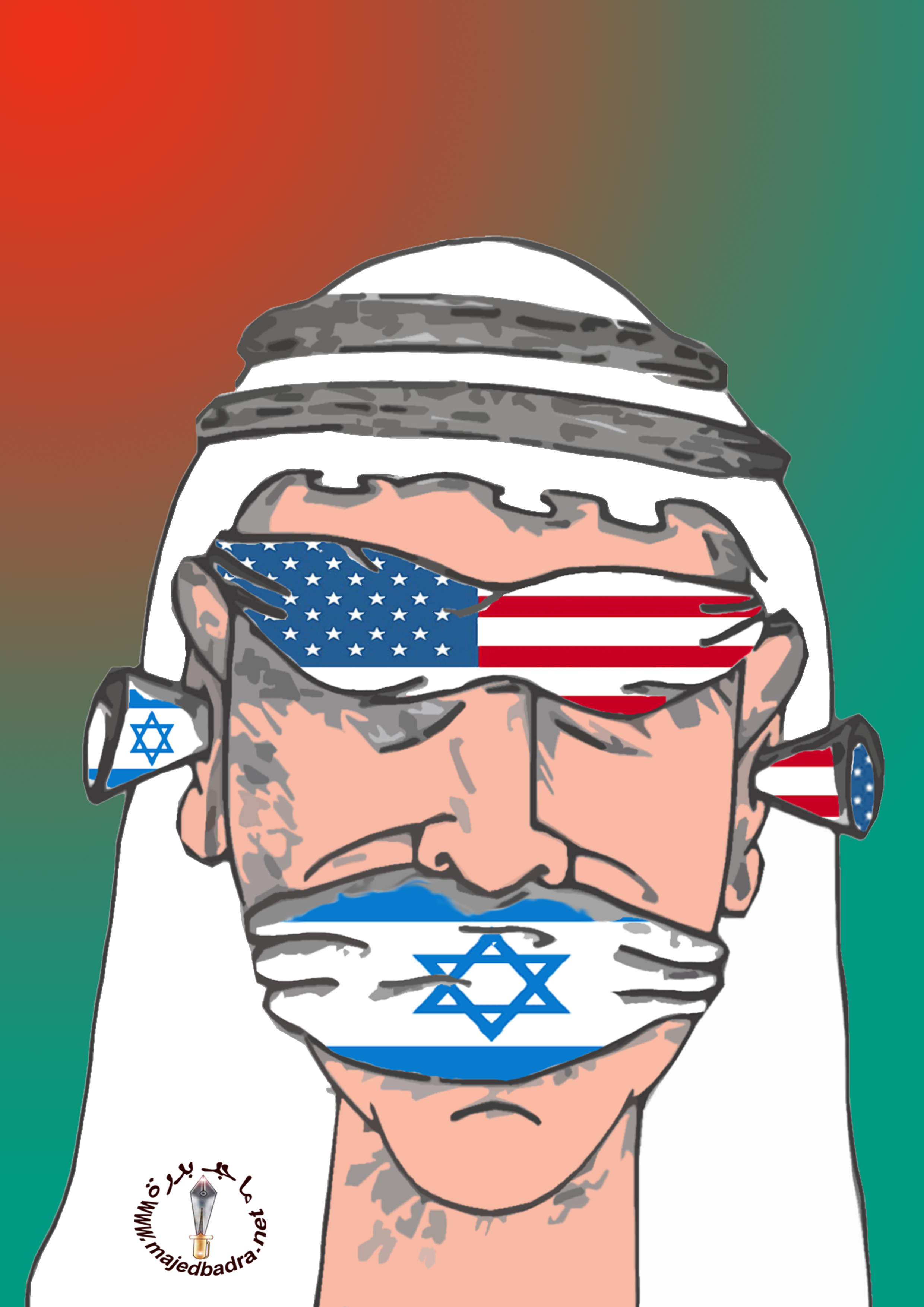 Image result for caricature saudi arabia israel usa