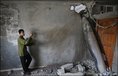 Israeli aircraft dropped hundreds of tons of explosives on Gaza, not all of which exploded