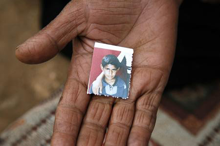 The only surviving photograph of 13-year-old Hammad Silmiya, taken when he was seven.