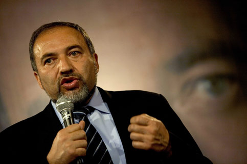 It would be mistaken to think of the rise of Avigdor Lieberman as a major development or as the main source of concern for the Palestinians. (Levine/SIPA)