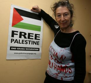 Wanted! for dyeing her hands and protesting aginst murder!