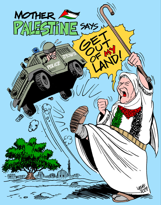 Get out of my Land, by Latuff
